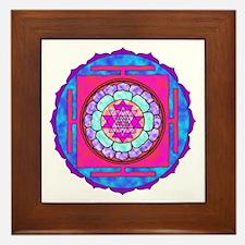 Batik Sri Yantra Framed Tile