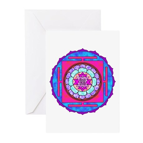 Batik Sri Yantra Greeting Cards (Pk of 10)