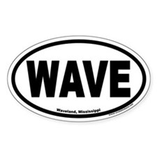 Waveland Mississippi WAVE Euro Oval Decal