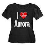 I Love Aurora (Front) Women's Plus Size Scoop Neck