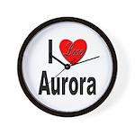 I Love Aurora Wall Clock