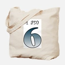 I am 6 (navy blue) Tote Bag