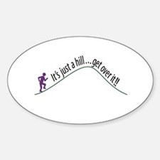 Get Over It (Running) Oval Decal