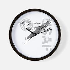 My Grandson My Hero USAF Wall Clock
