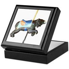 carousel bear Keepsake Box