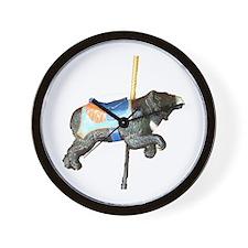 carousel bear Wall Clock