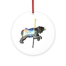 carousel bear Ornament (Round)