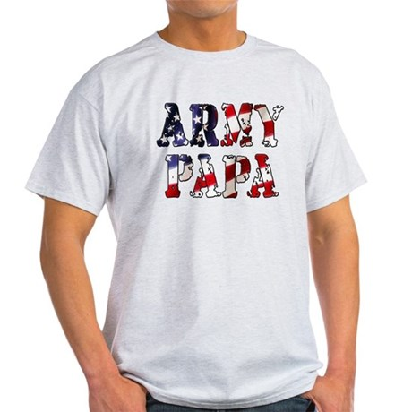 Army Papa Gray T-Shirt