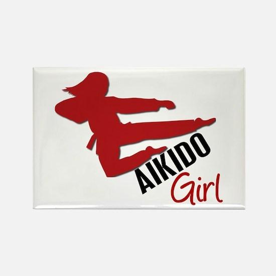 Aikido Girl Rectangle Magnet