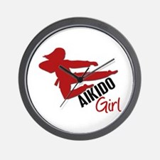 Aikido Girl Wall Clock