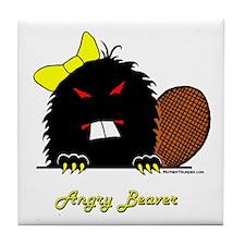 Angry Beaver Tile Coaster