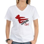 Capoeira Girl Women's V-Neck T-Shirt