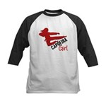 Capoeira Girl Kids Baseball Jersey