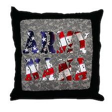 Army Nana Digital Camo Throw Pillow