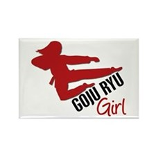 Goju Ryu Girl Rectangle Magnet