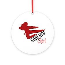 Goju Ryu Girl Ornament (Round)