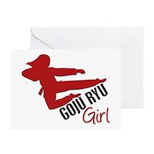 Goju Ryu Girl Greeting Cards (Pk of 10)