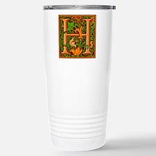 Floral Initial H Travel Mug