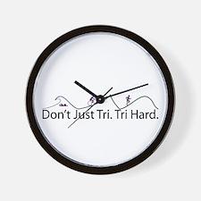 Don't Just Tri, Tri Hard (Line) Wall Clock