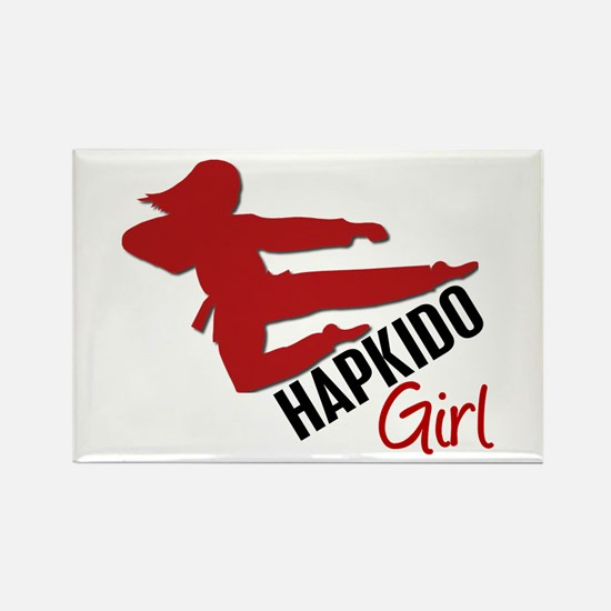 Hapkido Girl Rectangle Magnet
