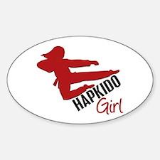 Hapkido Girl Oval Decal