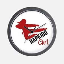 Hapkido Girl Wall Clock