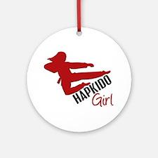 Hapkido Girl Ornament (Round)