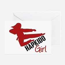 Hapkido Girl Greeting Card