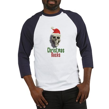 Christmas Rocks Skull Baseball Jersey