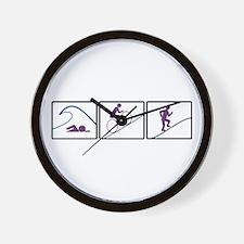 Triathlon Challenge (Box) Wall Clock