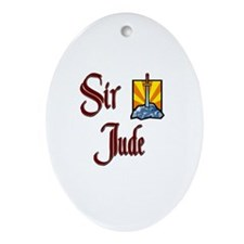 Sir Jude Oval Ornament