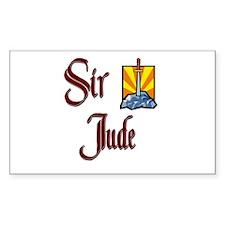 Sir Jude Rectangle Decal