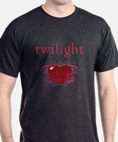 Twilight Fire Heart T-Shirt