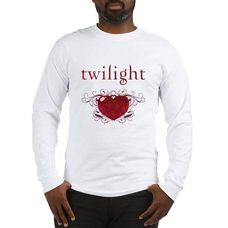 Twilight Fire Heart Long Sleeve T-Shirt