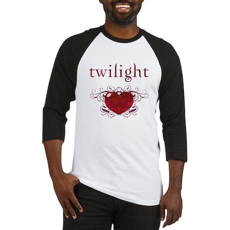 Twilight Fire Heart Baseball Jersey