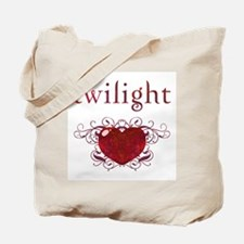 Twilight Fire Heart Tote Bag