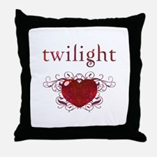 Twilight Fire Heart Throw Pillow