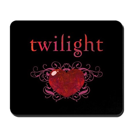 Twilight Fire Heart Mousepad