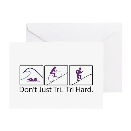 Don't Just Tri, Tri Hard (Box) Greeting Cards (Pk