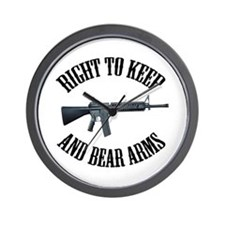 Right To Keep And Bear Arms A Wall Clock