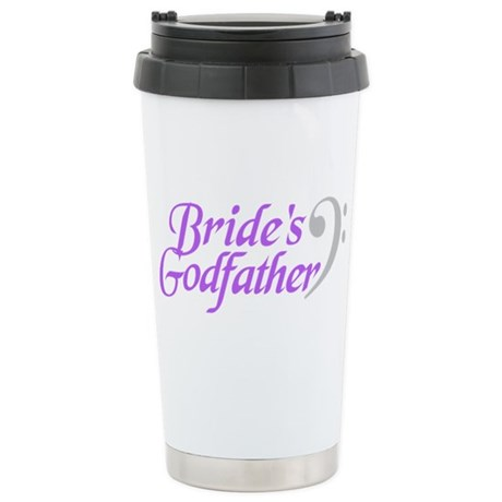 Bride's Godfather(clef) Stainless Steel Travel Mug