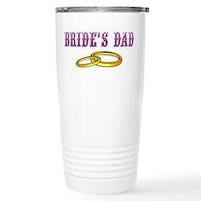 Bride's Dad (rings) Travel Mug