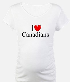 """I Love (Heart) Canadians"" Shirt"