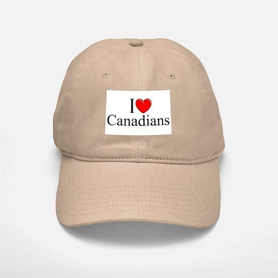 """I Love (Heart) Canadians"" Baseball Baseball Cap"