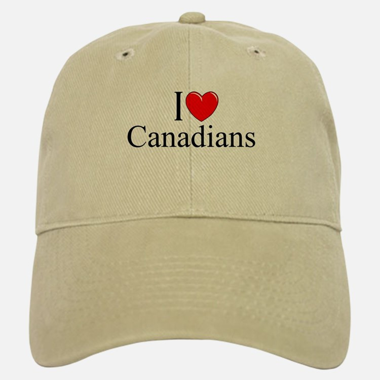 """I Love (Heart) Canadians"" Baseball Baseball Cap"
