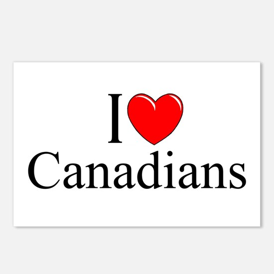 """I Love (Heart) Canadians"" Postcards (Package of 8"