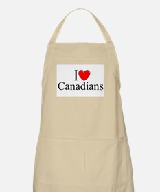 """I Love (Heart) Canadians"" BBQ Apron"