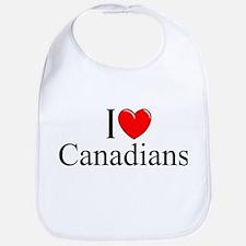 """I Love (Heart) Canadians"" Bib"