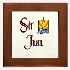 Sir Juan Framed Tile