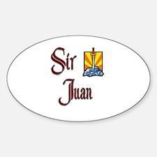 Sir Juan Oval Decal